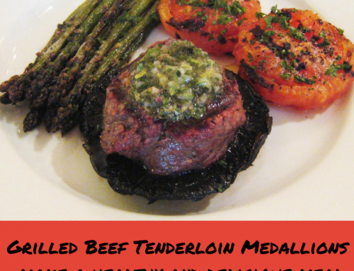 Night at the Grill – Grilled Beef Tenderloin Meal Goes Healthy