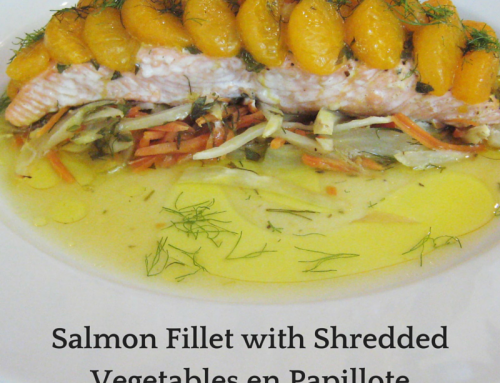 Salmon Fillet with Shredded Vegetables en Papillote Recipe